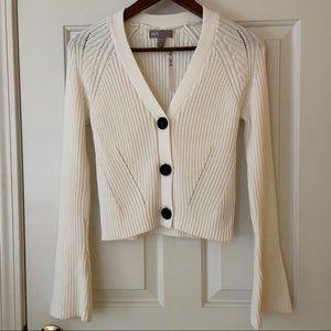 NWT ASOS White Ribbed Cotton Cardigan